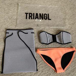 Triangl Jessy Nightfox strapless bikini with bag